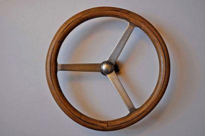 Volant en bois à 3 branches en acier, vers...