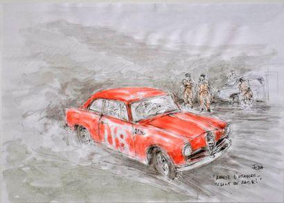 François CHEVALIER. Alfa Romeo à la Coupe...