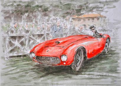 François CHEVALIER. Ferrari Concours d'Elégance....