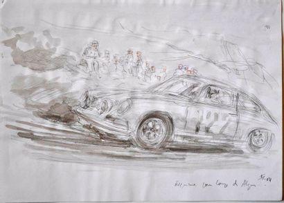 François CHEVALIER. Porsche à la Coupe des...