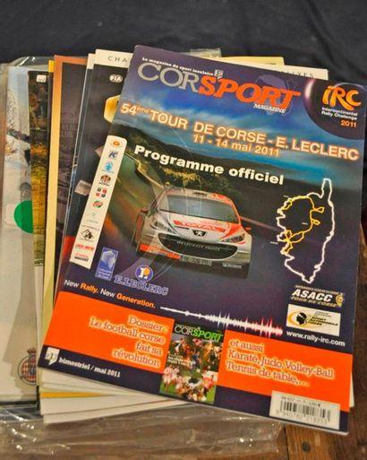 Lot de 19 programmes course: GP de Monaco F1 1999 et 1993 (2ex) + GP de Grande Bretagne...