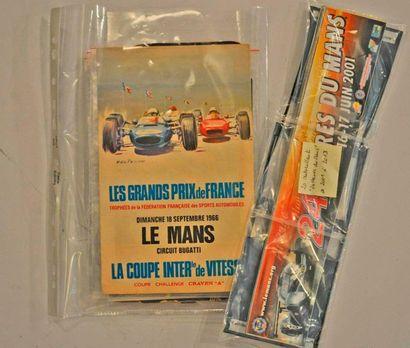 Lot de souvenirs 24h du Mans (Flyers 1961,...