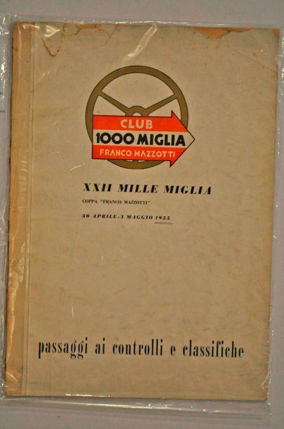 1000 Miglia 1955. Document exceptionnel (liste...