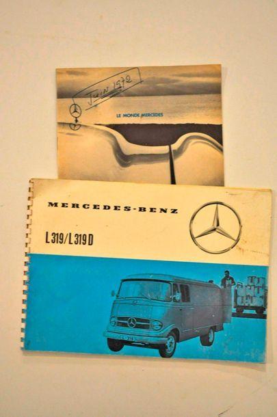 Lot de 2 catalogues Mercedes: 1972 + L319/L319D