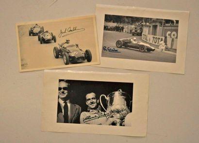 Lot de 3 photos: Maurice TRINTIGNANT Monaco...