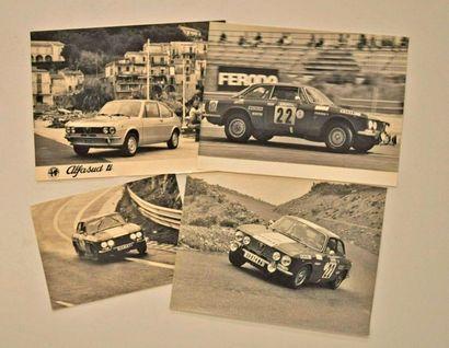 Lot de 4 photos Alfa Romeo Tour Auto 1972...