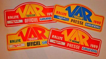 Rallye du Var. Lot de 4 plaques de rallye...