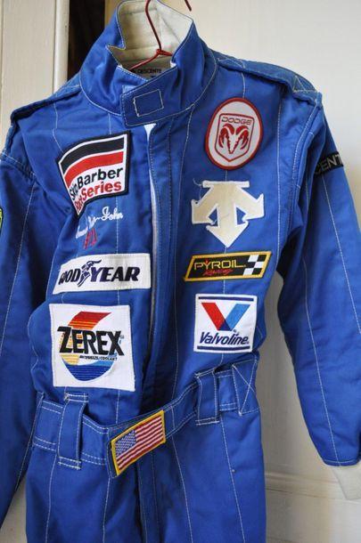 Combinaison de pilote, utilisée par Emerson Newton-John, pilote NASCAR et INDIANAPOLIS...