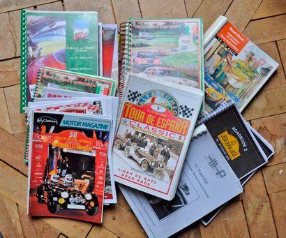 Lot de documents de rallies: Road book Carrera...