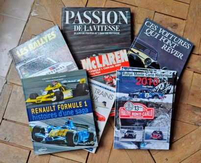 Lot de 8 livres: Passion de la vitesse, Voitures...