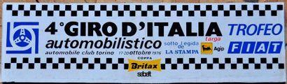 Plaque 4° Giro Italia 1976