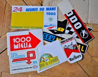 Lot de 48 autocollants: 24h du Mans 85, ADL,...