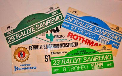 Lot de 5 plaques de rallye Italie: 13eme...