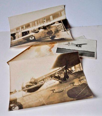 Lot de 3 photos aviation: Le pourquoi pas...
