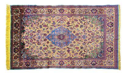 Magnifique et exceptionnel tapis KACHAN-SOOF (Iran), fin du 19e siècle, début du...