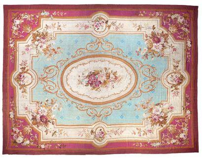 Tapis d'Aubusson époque Napoléon III, France,...