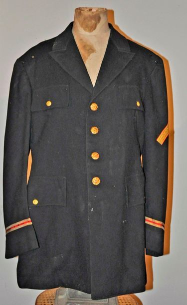 Officer's jacket, navy blue, as is