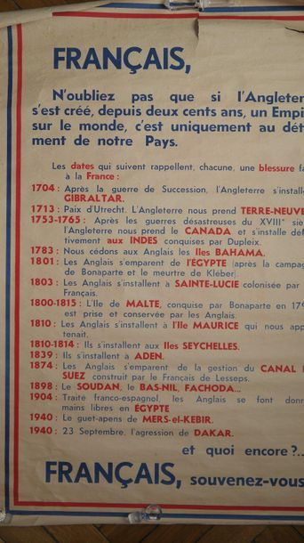 Poster French State in 1941 on the defeats...