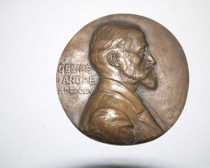 Medal - Portrait of Désiré André, mathematician...