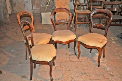4 Louis Philippe chairs