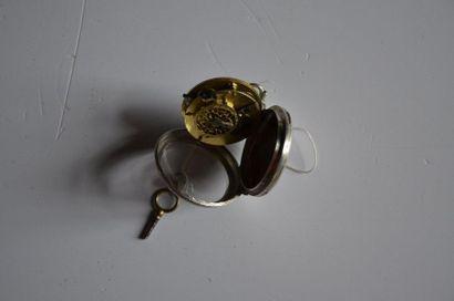 Lot de 3 montres: Montre en argent GC (G. Chatelin orfèvre à Lyon) 1809- 1819. Diam....