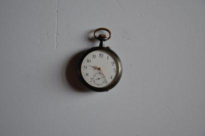 Lot de 2 montres: Montre en argent (mouvement CUMMING LONDON) Diam. 5 cm + Montre...