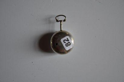 Lot de 3 montres: Montre mouvement Penhouse/Penvithe en argent (GB) Diam. 4 cm +...