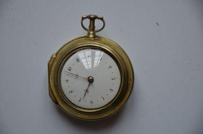 Montre Charles Cabrier London en argent doré, montre de marine à coq ( Réf 101)...