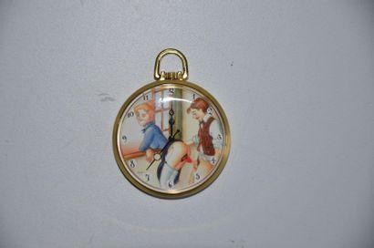 Lot de 3 montres: Montre érotique Les cavaliers + Montre érotique AM Fenster + Montre...