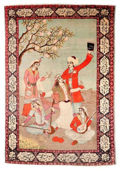 KACHAN (Perse), 1er tiers du 20e siècle  Encadrée...