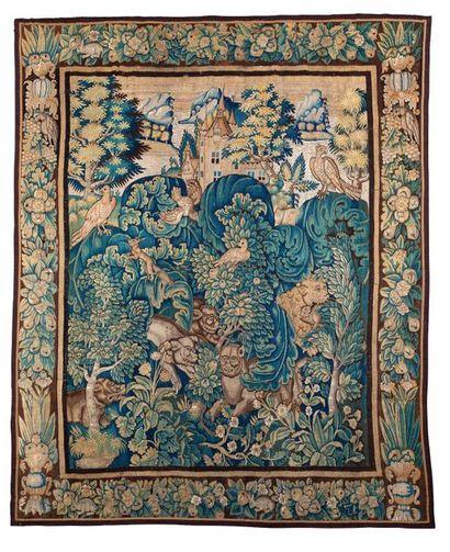 AUDENARDE  Beau panneau de tapisserie d'Audenarde...