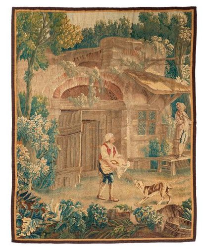 Panneau de tapisserie d'Aubusson ( France...