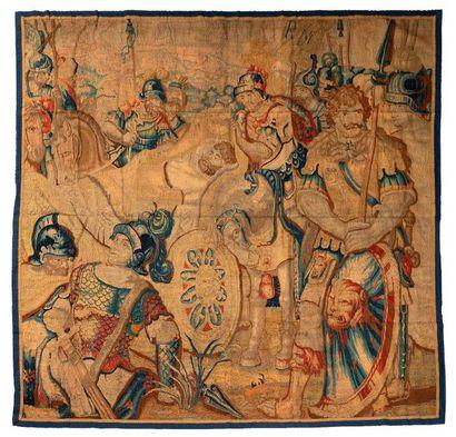 Panneau de fine tapisserie de Bruxelles...