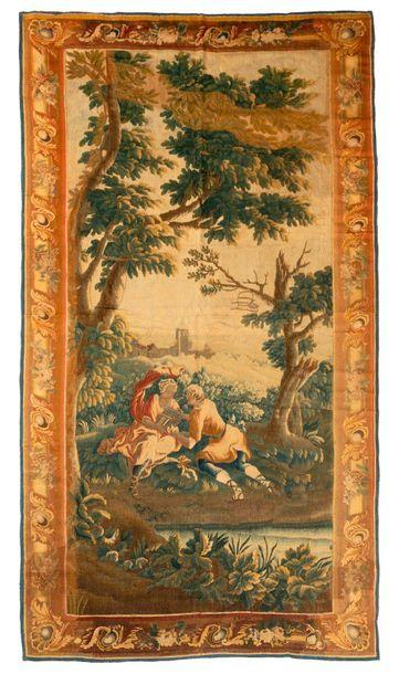 Panneau de tapisserie d'Aubusson (France)...