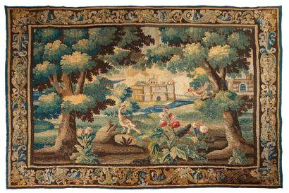 Tapisserie d'Aubusson laine et soie, du XVIIIe...