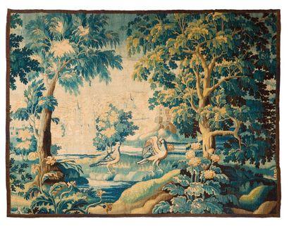 Panneau de tapisserie d'Aubusson. Détourée.France.Fin...