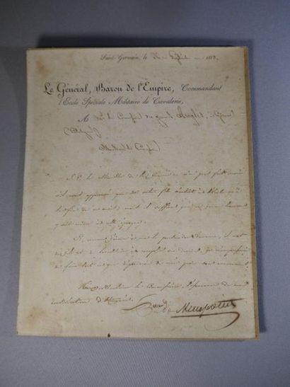 Letter on cardboard from General Baron de...