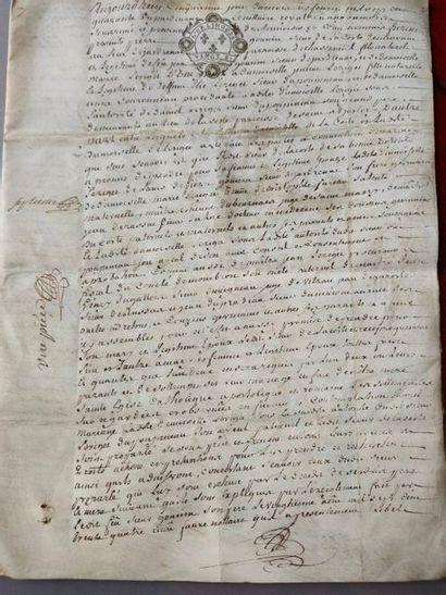 Manuscript on parchment - 18th century -...