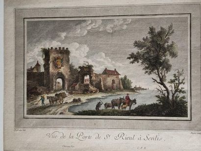 Engraving first print - View of the Porte...