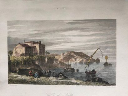 Engraving representing the Gulf of Naples...