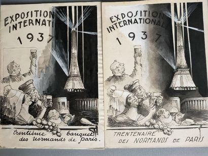 Two drawings - Project for the 1937 International...