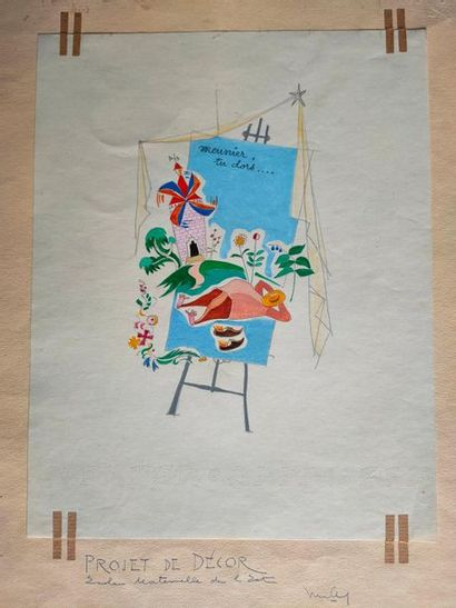 Drawing -Project of decor Ecole maternelle...
