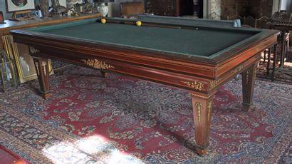 E. BRIOTET in Paris. Rosewood billiard table...