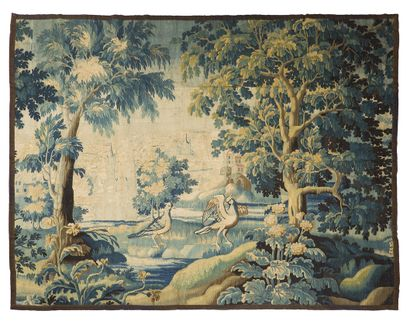 Aubusson Tapestry in wool and silk from the...