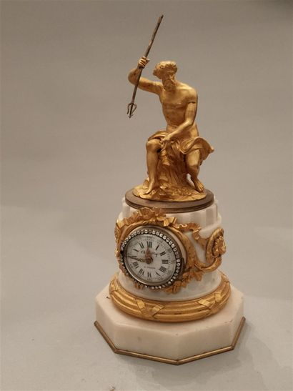 Small Chamber Clock - Bronze gilded with...