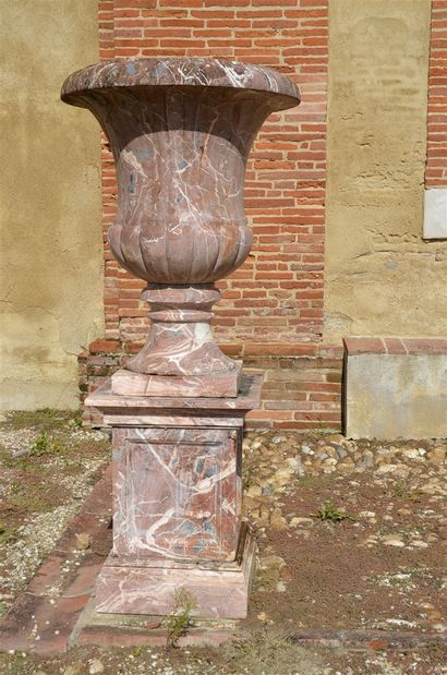 Important pair of Medici vases on a royal...