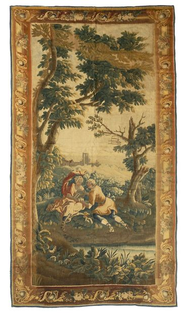 Tapestry of Flanders in wool and silk, from...