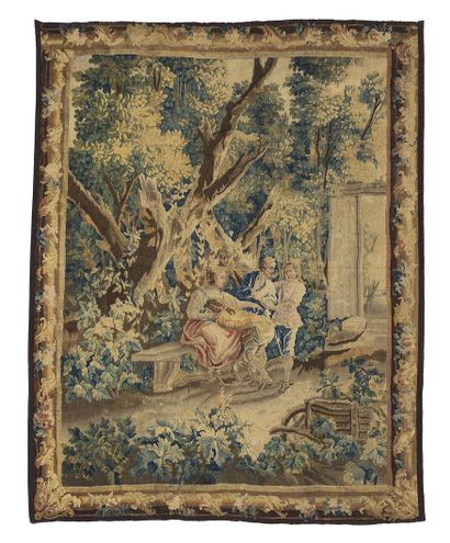 Aubusson Tapestry, in wool and silk from...