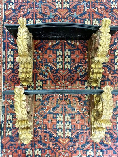 Pair of 19th century carved and gilded wood...