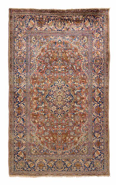 Fine silk KACHAN (Iran), early 20th century....